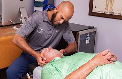 Chiropractor Lexington NC Tony Vizzini Adjustment