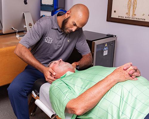 Chiropractor Lexington NC Tony Vizzini With Patient